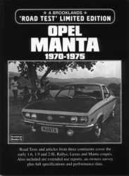Road Test Limited Edition Opel Manta 1970-1975