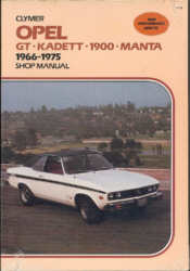 Opel GT Kadett 1900 Manta  1966-1975 Shop Manual (A175)