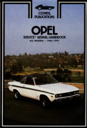 Opel Service Repair Handbook All models 1966 - 1977