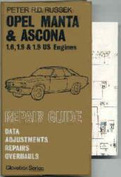 Repair Guide for Opel Manta, Ascona 1.6, 1.9 &1.9 US Engines