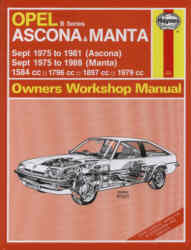 Service and Repair Manuals Opel Ascona & Manta (B Series)  (Sept '75 to '88)